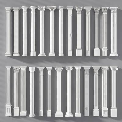 石膏, 罗马柱组合, 欧式