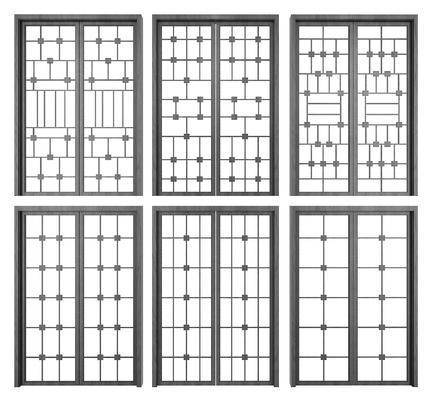 新中式, 移门, 门窗