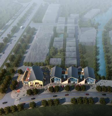 中式园林建筑, 古建, 园林, 中国风, 鸟瞰