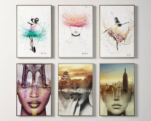 挂画, 人物画, 风景画, 装饰画