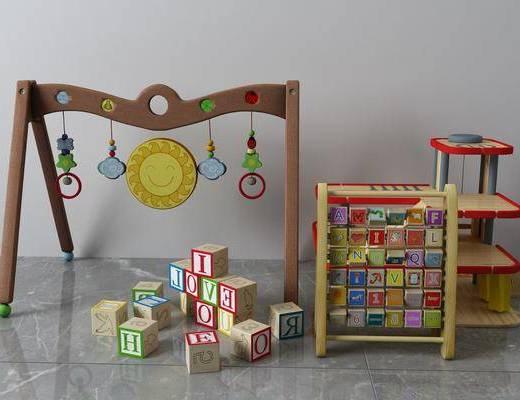 积木组合, 玩具组合, 儿童用品, 现代