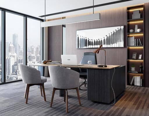 桌椅組合, 擺件組合, 裝飾畫, 吊燈