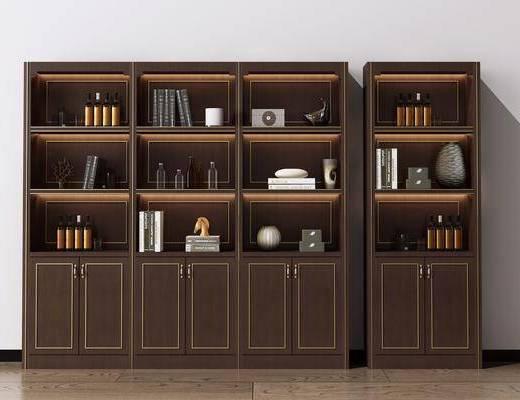 书柜, 酒柜, 装饰柜, 陈列柜