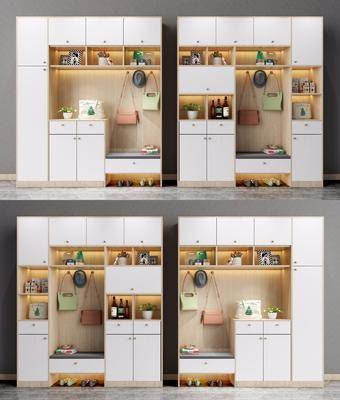北欧鞋柜, 鞋柜, 置物柜, 装饰柜架