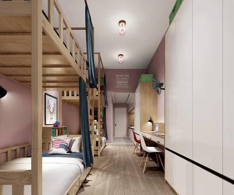 双层床, 学生宿舍, 员工宿舍, 青年旅馆