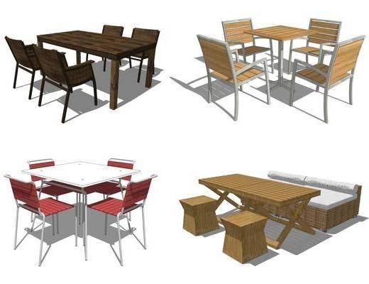 室外座椅, 餐桌椅组合