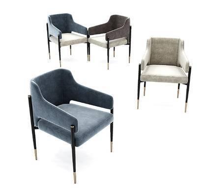 现代布艺餐椅单椅