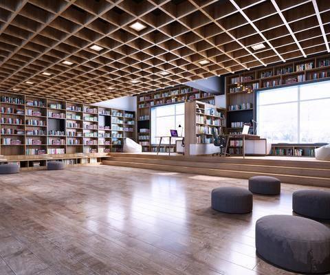 图书馆, 书架, 书柜, 桌椅组合