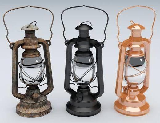 现代, 煤油灯, 灯具, 单体