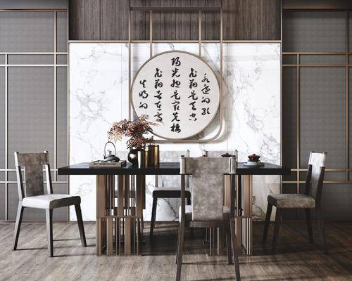 新中式, 餐桌椅