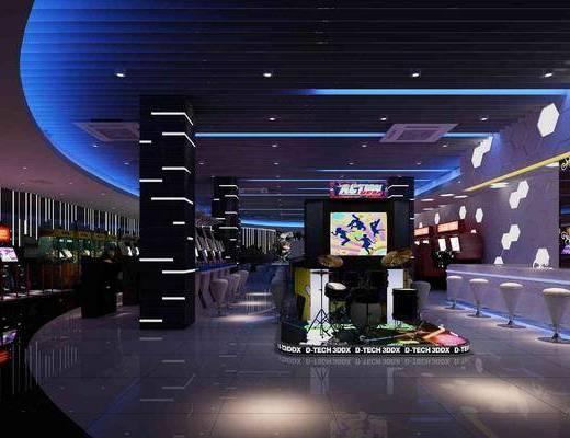 电玩城, 游戏厅, 现代游戏厅, 单椅