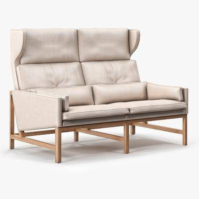双人沙发, 皮革沙发, 现代沙发, 现代