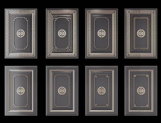 柜门, 新中式柜门, 门板, 新中式