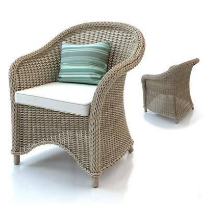 现代休闲单椅, 现代, 椅子, 藤椅