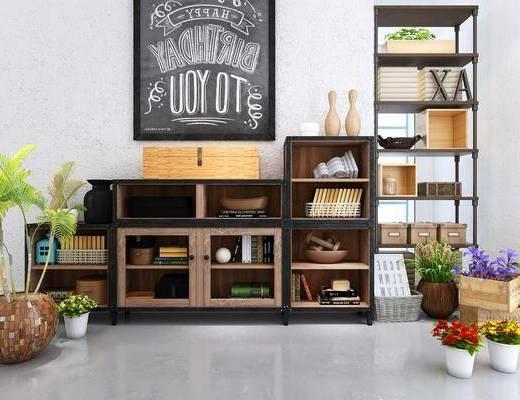 装饰柜, 置物柜, 柜架组合