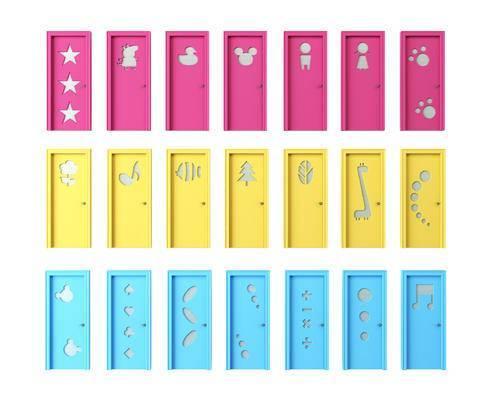 儿童门, 早教中心门, 幼儿园门, 卡通门, 门