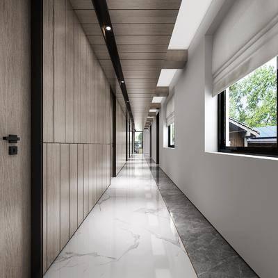 过道走廊, 现代