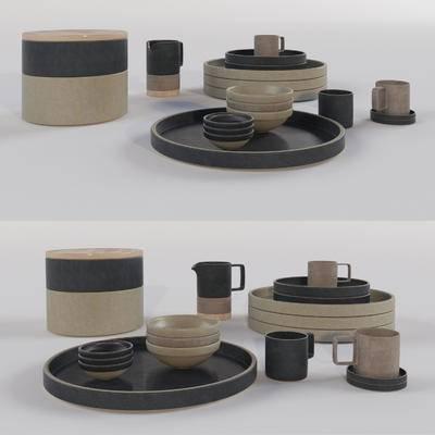 陶瓷, 摆件, 现代, 餐具, 现代陶瓷陈设摆件