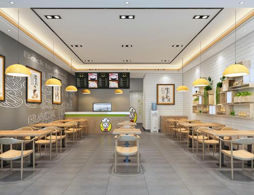 茶餐厅, 北欧, 现代, 工业, 现代餐厅, 餐桌椅