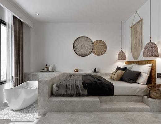 现代, 民宿, 酒店, 房间