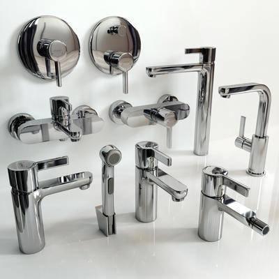 水龙头, 开关, 现代不锈钢水龙头开关组合, 花洒, 现代