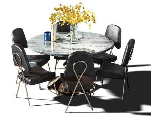 桌椅, 餐桌, 桌椅组合, 休闲桌椅, 休闲桌, 餐桌椅, 现代, 北欧