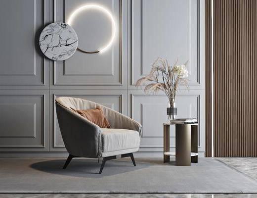 现代, 沙发, 组合