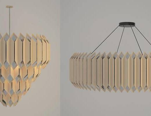 现代吊灯, 吊灯, 金属吊灯