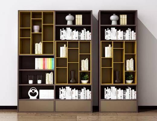 现代, 书柜, 装饰柜