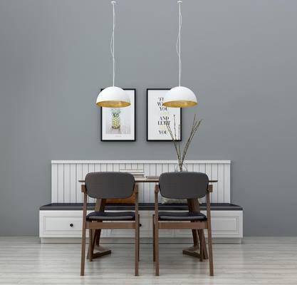 餐桌椅组合, 桌椅组合, 木质餐桌, 餐桌装饰, 吊灯, 现代餐桌, 北欧餐桌, 北欧