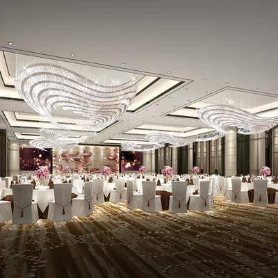 餐桌, 餐椅, 摆件, 吊灯, 装饰品, 陈设品, 现代