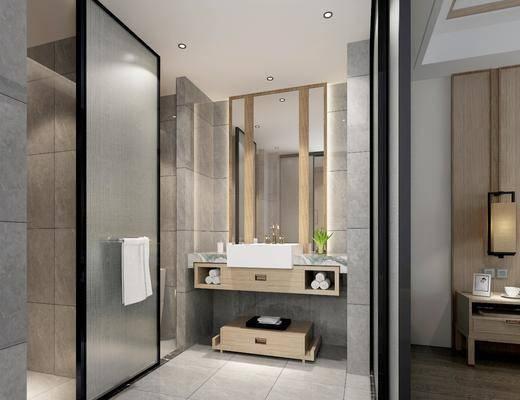 卫生间, 洗手台组合, 现代卫生间