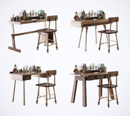 电脑桌, 桌椅组合, 书桌
