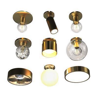 金屬吊燈吸頂燈燈具, 金屬吊燈, 吸頂燈, 燈具