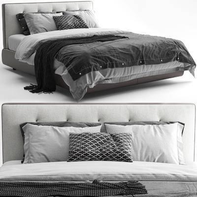 双人床, 床具组合, 抱枕