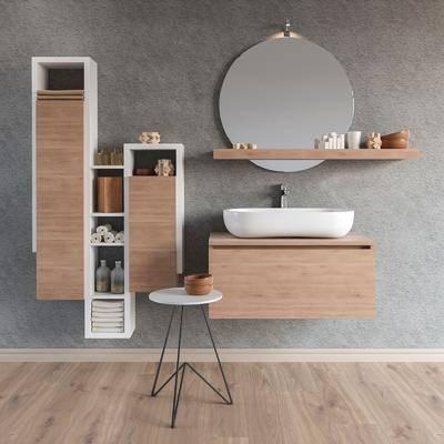 浴室柜, 洗手台, 柜架, 现代