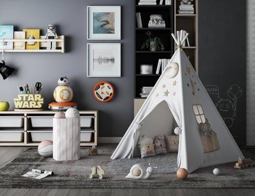 儿童用品, 帐篷, 边柜, 摆件组合, 玩具