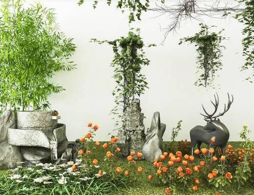 景观小品, 花草, 植物