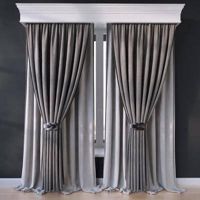窗帘, 窗帘盒, 布艺, 现代