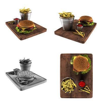 汉堡, 薯条, 现代汉堡薯条组合, 现代