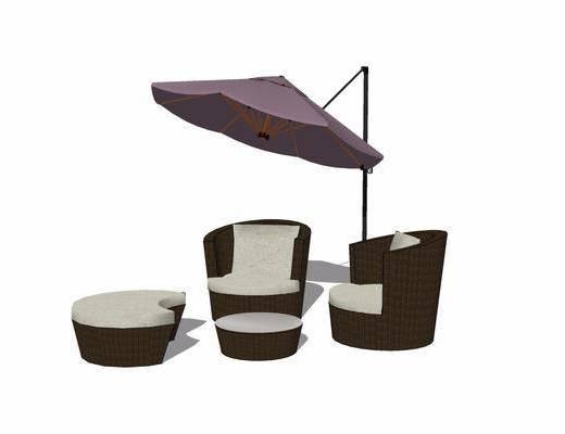 户外椅, 遮阳伞, 单椅