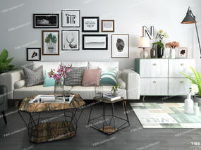 沙发组合, long8.cc龙8国际pt娱乐沙发, 沙发茶几组合, 茶几, 装饰画, 边柜, 陈设品, 台灯