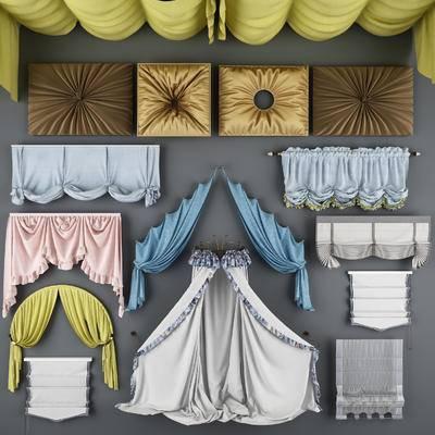 欧式, 窗帘, 雨棚