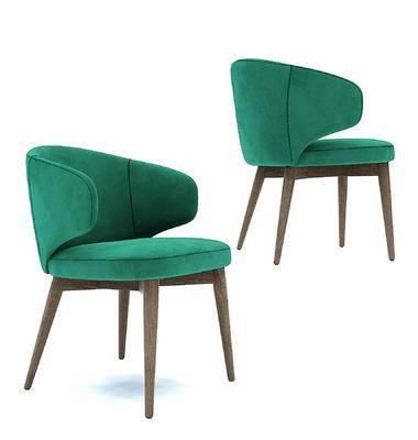 现代绒布单椅