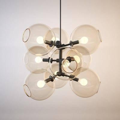 吊灯, 现代吊灯, 玻璃吊灯, 灯泡, 艺术吊灯, 现代, 餐厅吊灯