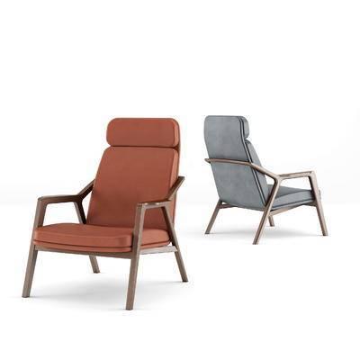 porada, 现代实木休闲椅, 椅子