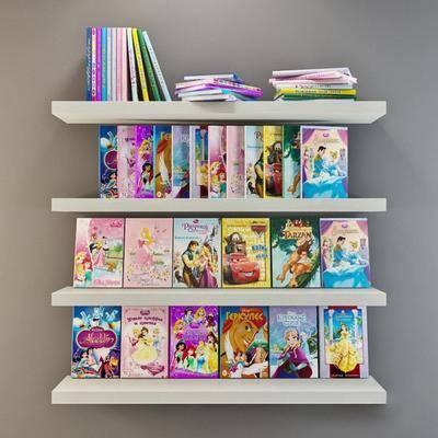 书籍, 儿童读物, 置物架, 现代, 现代书架
