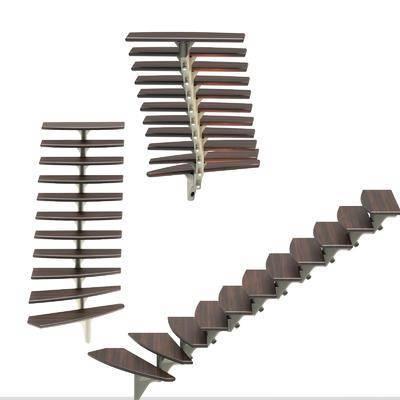 钢结构楼梯, 楼梯, 现代