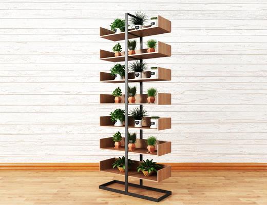 置物架, 植物, 盆栽, 绿植, 花架