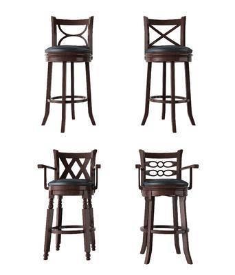美式, 吧椅, 吧凳